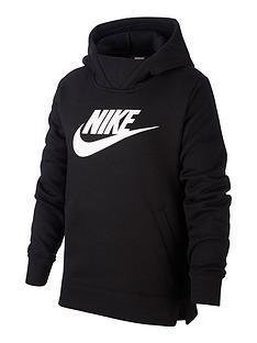 nike-sportswear-girls-hoodie-blackwhite