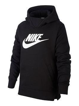 Nike Nike Sportswear Girls Hoodie - Black/White Picture