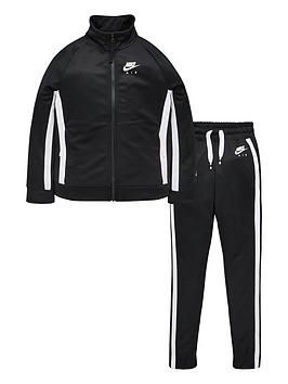 Nike Nike Air Kids Tracksuit - Black/White Picture