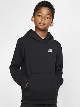 Nike Nike Sportswear Kids Hoodie - Black/White Picture