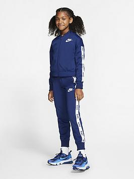 Nike Nike Sportswear Tricot Tracksuit - Navy/White Picture