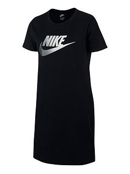 Nike Nike Girls Nsw Futura Future Femme T-Shirt Dress - Black Picture