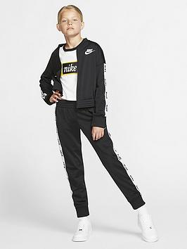 Nike Nike Sportswear Girls Tricot Tracksuit - Black/White Picture