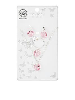 monsoon-swarovski-heart-necklace-ring-earring-set