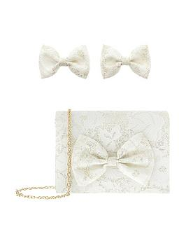 monsoon-willow-brocade-bow-bag-and-clips-set