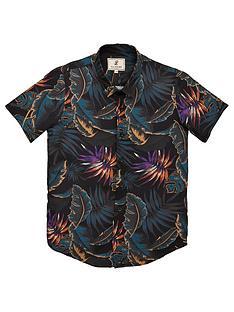 illusive-london-boys-floral-resort-short-sleeve-shirt-navy