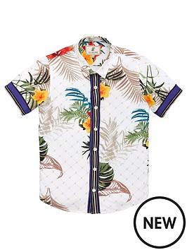 93d47385f44f5 ... Illusive London Boys Botanical Resort Short Sleeve Shirt. View larger