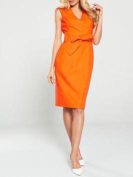 Karen Millen Karen Millen Tie Waist Contour Dress - Orange Picture