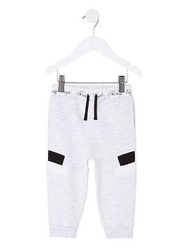 river-island-mini-mini-boys-panel-joggers-grey-marl