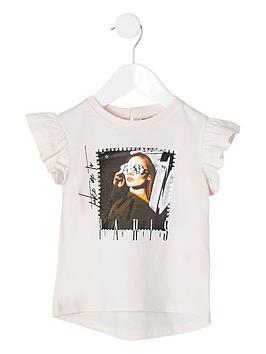 river-island-mini-mini-girls-printed-frill-sleeve-t-shirt-pink