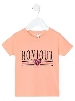 river-island-mini-mini-girls-neon-bonjour-t-shirt-orange