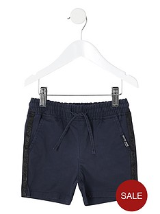 river-island-mini-mini-boys-pull-on-shorts-navy