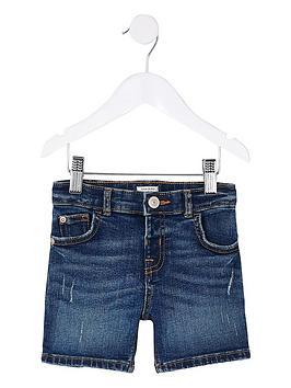 river-island-mini-mini-boys-dylan-denim-shorts-mid-blue