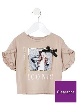river-island-mini-mini-girls-printed-bow-t-shirt-beige