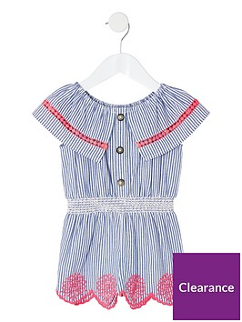 river-island-mini-mini-girls-stripe-playsuit-blue