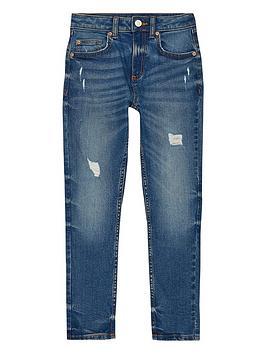 river-island-boys-dark-blue-sid-skinny-rip-jeans