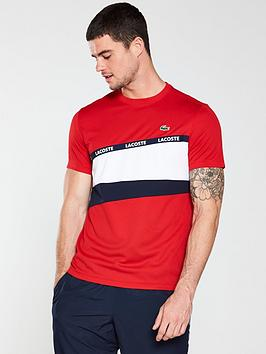 lacoste-sport-colourblock-t-shirt-red