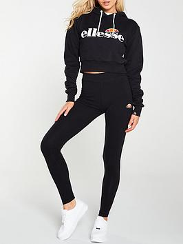Ellesse Ellesse Exclusive Toris Legging And Crop Suit - Black Picture