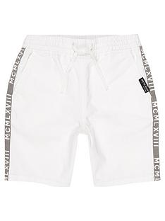river-island-boys-white-tape-straight-fit-shorts