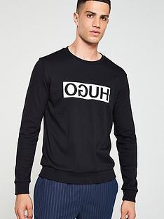hugo-reverse-logo-sweatshirt-black