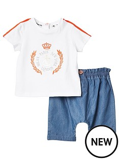river-island-baby-white-printed-t-shirt-and-shorts-outfit