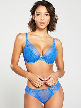 Cleo by Panache Cleo By Panache Everly High Apex Plunge Bra - Electric Blue Picture