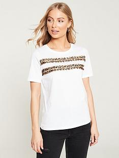 v-by-very-leopard-trim-tee-white