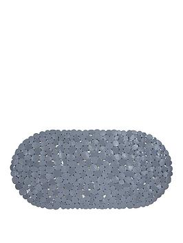 AQUALONA Aqualona Pebbles Grey Safety Bath Mat Picture