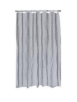 AQUALONA  Aqualona Bubbles Grey Soft Peva Shower Curtain