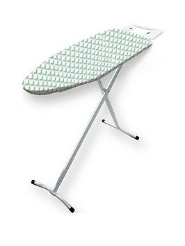 addis-compact-t-leg-ironing-board-97x35cm-with-iron-rest-geometric-dot-design