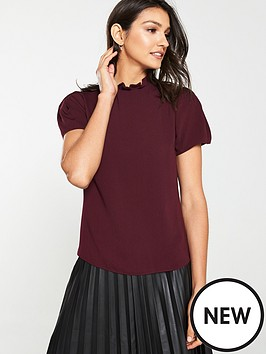 v-by-very-ruffle-neck-shell-top-plum