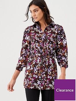 v-by-very-tie-waist-longline-shirt-print