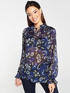 v-by-very-burnout-stripe-print-poet-blouse-paisley