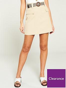 river-island-river-island-belted-utility-mini-skirt--beige