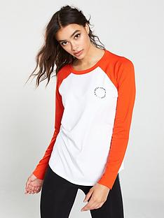 dkny-sport-logo-long-sleeve-baseball-top-whiteorange