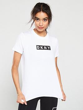 dkny-sport-logo-t-shirt-white