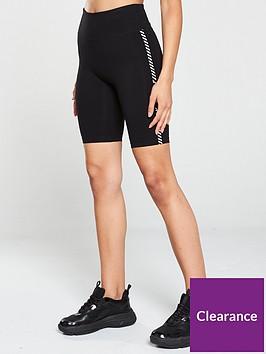 dkny-sport-finish-line-logo-high-waist-bike-shorts-black