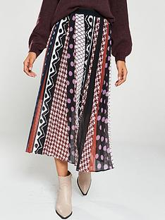 v-by-very-polka-and-geo-pleated-midi-skirt-multi