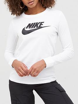 Nike Nike Nsw Essential Icon Futura Ls Top - White Picture