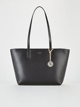 DKNY Dkny Byrant Medium Sutton Tote Bag - Black/Gold Picture