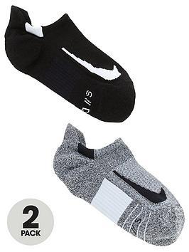nike-2-pack-unisex-multiplier-run-no-show-socks-blackgreynbsp