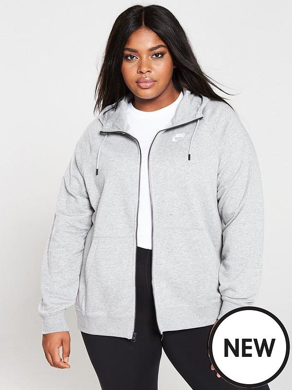 Sportswear Essential FZ Hoodie (Curve) Grey Heather