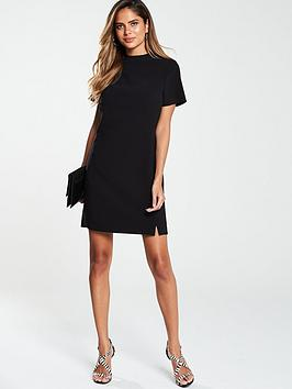 V by Very V By Very High Neck Simple Tunic Dress - Black Picture