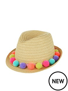 accessorize-girls-pom-pom-trilby-hat-natural
