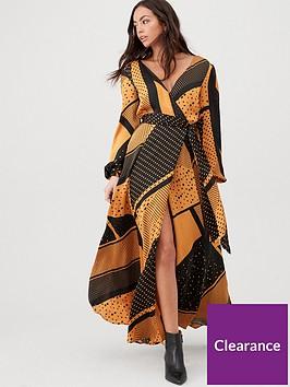 v-by-very-spliced-spot-wrap-maxi-dress-spot