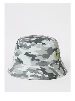 river-island-mini-mini-boys-camo-bucket-hat-grey