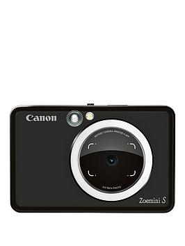 Canon    Zoemini S Pocket Size 2-In-1 Instant Camera Printer (Matte Black) + App - Zoemini S Instant Camera Only