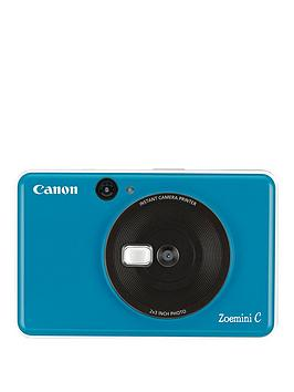 Canon    Zoemini C Pocket Size 2-In-1 Instant Camera Printer - Seaside Blue - Zoemini C Instant Camera With 60 Pack Paper