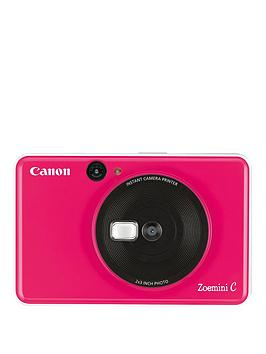 Canon    Zoemini C Pocket Size 2-In-1 Instant Camera Printer - Bubble Gum Pink - Zoemini C Instant Camera With 60 Pack Paper