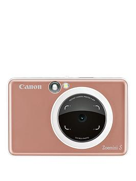 Canon    Zoemini S Pocket Size 2-In-1 Instant Camera Printer (Rose Gold) + App - Zoemini C Instant Camera With 60 Pack Paper